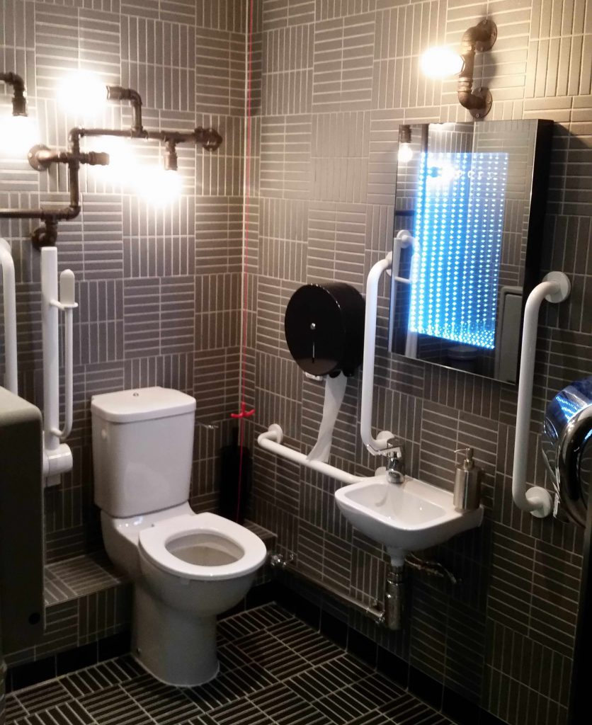 Commercial Disabled Toilette Installation And Tiling