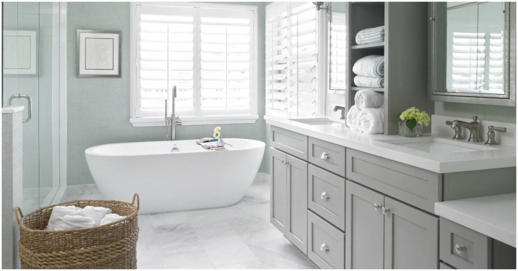 Bathroom Fitting in One Colour - simple for perfection